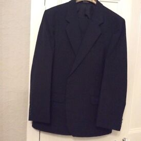 "Immaculate gents M&S navy pinstripe suit 42"" chest, 36""waist, 29"" Inside leg."