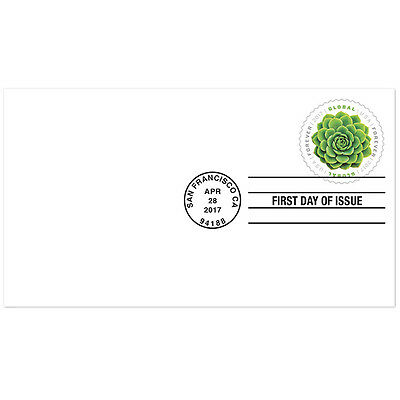 Usps New Global Forever Green Succulent First Day Cover