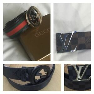 Louis Vuitton and Gucci belt for sale