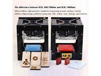 Laser Engraver Printer for Hard Wood / Rubber / Leather / Cut Paper Black