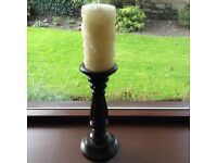 Laura Ashley wooden candle holder & candle