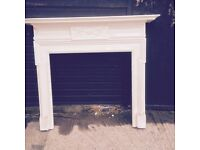 Fire surround, stunning with lovely detail & cresting, 55w x 56h, opening 42w x 39h £300.