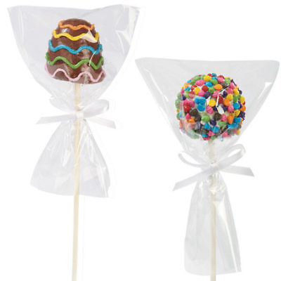 Cake Pops Wrappers (Wilton 12 Pack Single Pop Bag Wrappers Candy Making Cake Baking Sweet)