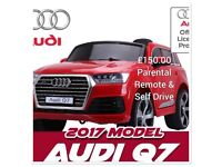 Audi Q7 In Red Lights, Music , Door Open Parental Remote & Self Drive, Ride-On