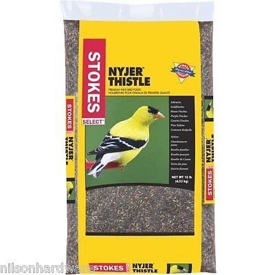 Stokes Select Nyjer (Thistle) All Finch Bird Food Seed Single Seed 10# Bag 524