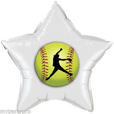 FASTPITCH SOFTBALL MYLAR BALLOON 18IN Party Supplies FREE SHIPPING