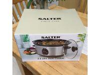New Salter 3.5 litre slow cooker