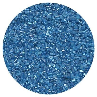 Pearlized Blue Sugar Crystals - 4 oz  Blue Sugar Crystals