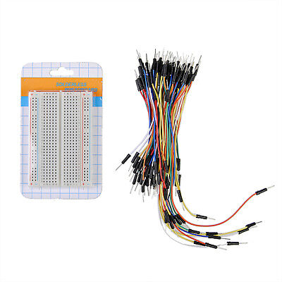 Mb102 400 Tie-points Pcb Breadboard Mini Solderless 65pcs Jump Cable Wire Us