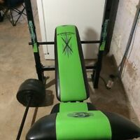 Competitor ol school muscle weight bench