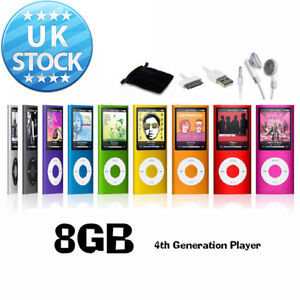 New 8GB MP3 MP4 Slim Player LCD Screen 4th Generation Video Movie FM Radio Games