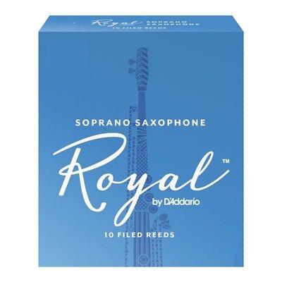 Box of 10 Royal By D'Addario (Rico Royal) Soprano Saxophone Reeds 1.5 Strength