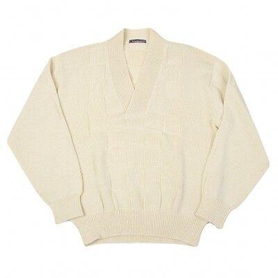 ISSEY MIYAKE MEN Block Plaid V-neck Knit Size S(K-43045)