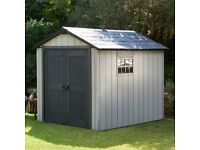 Plastic shed 8ft x 8ft.