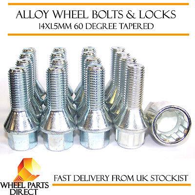 Wheel Bolts & Locks (12+4) 14x1.5 Nuts for Mercedes M-Class ML [W166] 11-16