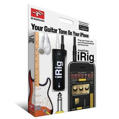 - AmpliTube iRig Guitar Interface Cable for iPhone iPad iPod, Garage Band Logic