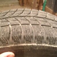 Winter tires and steel16 inch rims 195/55/R16