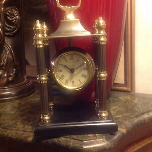 BOMBAY CADOGAN COLUMN CLOCK WITH FENNEL AND BOX