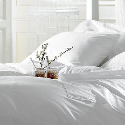 Luxury 4 PCs Sheet Set Egyptian Cotton Queen Size Count Deep Pocket White - Deep Blank