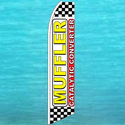 Muffler Catalytic Converter Flutter Flag Tall Auto Repair Feather Swooper Banner