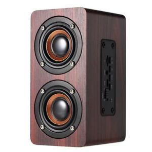 W5 Retro Wood Wireless Bluetooth Speaker (Brand New in Box)