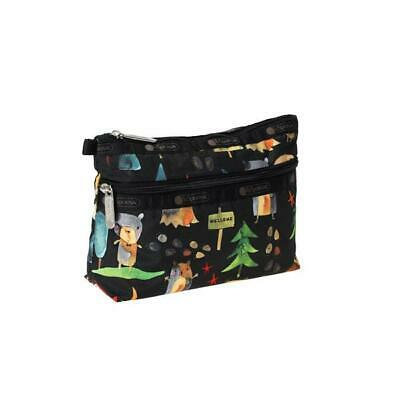 LeSportsac Classic Collection Cosmetic Clutch Make Up Bag in Hello Bears NWT