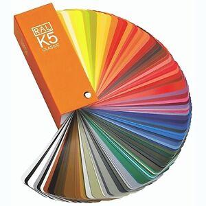 Ral-K5-Classic-Carta-De-Colores-Tarjetas-213-Tonos-Muestrario-en-seda-mate