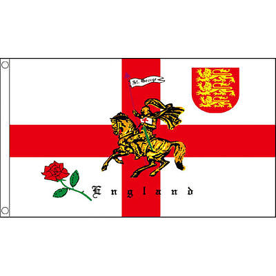 3' x 2' FLAG Rose Lion England English St George Cross Flags Great Britain New
