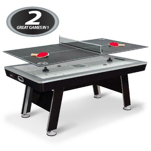 """Air Powered Hockey w/ Table Tennis Top 80"""" NHL Included Pucks Paddles Pushers US"""