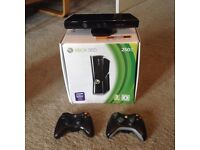 Xbox 360 250Gb with Kinect & 2 Controllers