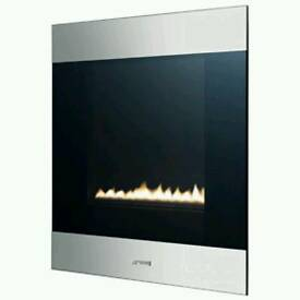 Boxed New Smeg P23CLP wall Mounted Flue Less Fire
