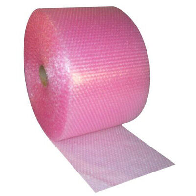 2x Bubble Wrap Rolls Size 500mm x 100m Pink Antistatic Packaging Wrapping