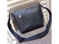 Classic Louis Vuitton black and grey monogram lv pick mm cross body unisex genuine designer