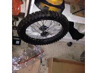 17 inch front pit bike wheel