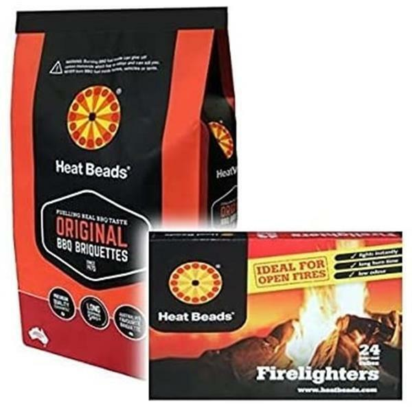 1+x+4kg+Heat+Bead+Briquettes+%26+1+Pack+Heat+Beads+Firelighters+%28Pack+of+24%29