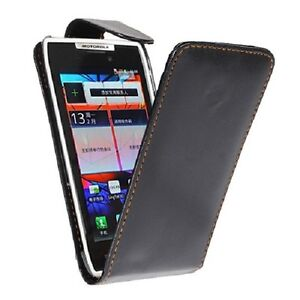 Black-Flip-PU-Leather-Pouch-Case-Cover-For-Motorola-Droid-Razr-XT910-XT912-NEW