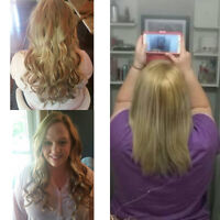 Fusion & Tape-in hair extensions {Full set $300}