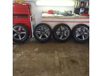 """Set of Alutec 18"""" Alloys With brand new winter tyres"""
