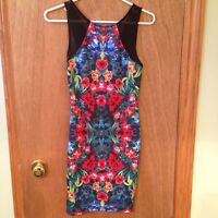 FOREVER 21 Size S Floral Bodycon Dress