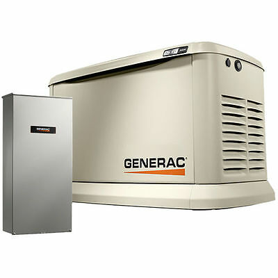 Generac Synergytrade 20kw Variable Speed Standby Generator 200a Service Di...