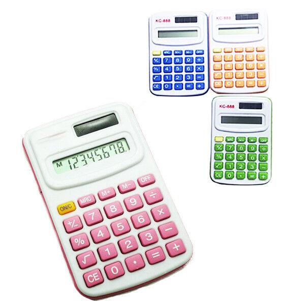 Mini Calcolatrice + Colori Solare Tascabile Cancelleria Scuola Piccola Conti 336