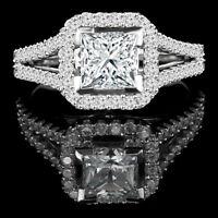 Superb diamond engagement ring 1.90CTW bague de fiançailles