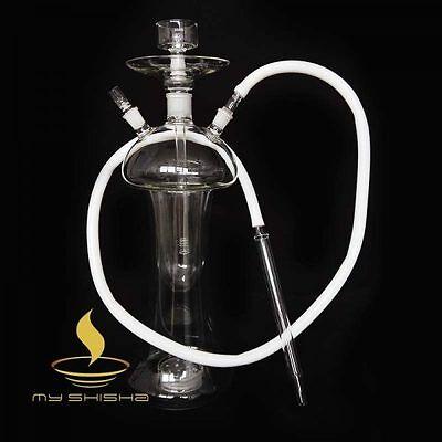 Premium Hookah Glas  Shisha Wasserpfeife Medusa Style mit Koffer und LED+Zubehör