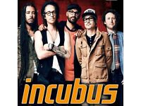 2 x Incubus Standing Tickets - Manchester