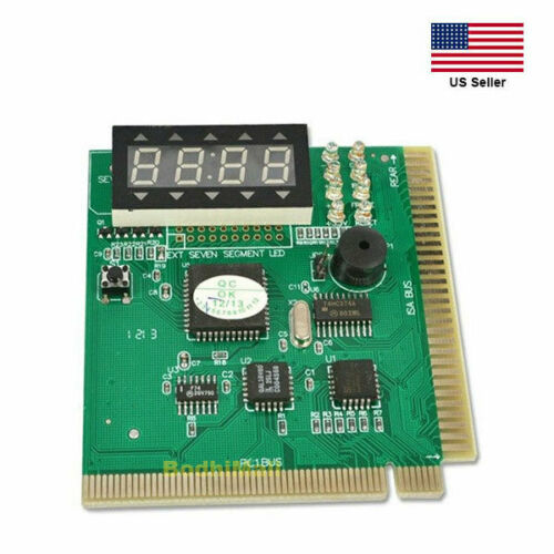 PCI & ISA Tester Diagnostics Display 4-Digit PC Debug Analyzer Motherboard Card