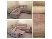 Suede Corner sofa £250 O.N.O