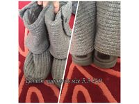 Genuin ugg boots Grey knitted