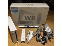 Boxed Nintendo wii console