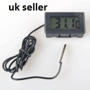 Digital lcd fish koi garden pond water temperature for Koi pond temperature