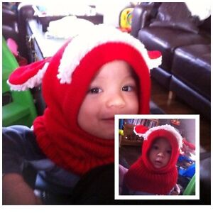 Sheep style hat/scarf for baby to toddler  6~36m
